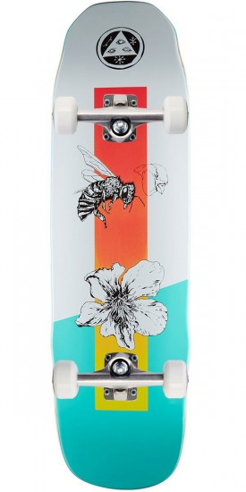 Welcome Adaptation on Sledgehammer Skateboard Complete - White/Teal - 9.0