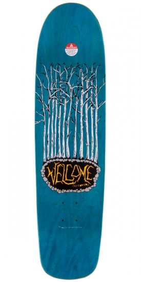 """Welcome Bunny Heads On Waxing Moon Skateboard Deck - Blue Stain - 8.5"""""""