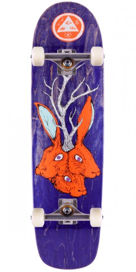 """Welcome Bunny Heads on Waxing Moon Skateboard Complete - Purple Stain - 8.50"""""""