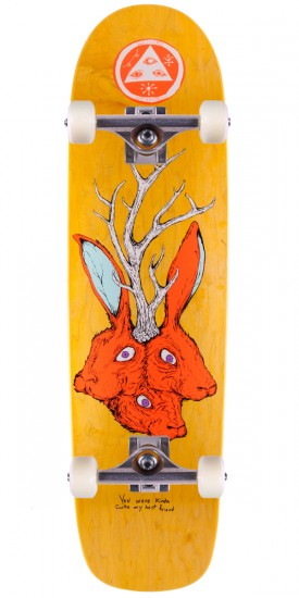 """Welcome Bunny Heads on Waxing Moon Skateboard Complete - Yellow Stain - 8.50"""""""