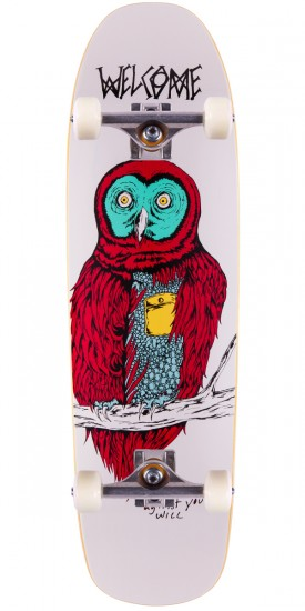 Welcome Fate Owl On Magic Mace Skateboard Complete - White - 9.00""