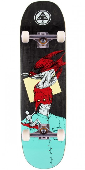 Welcome Feel Nothing on Moontrimmer 2.0 Skateboard Complete - Teal/Red - 8.50""