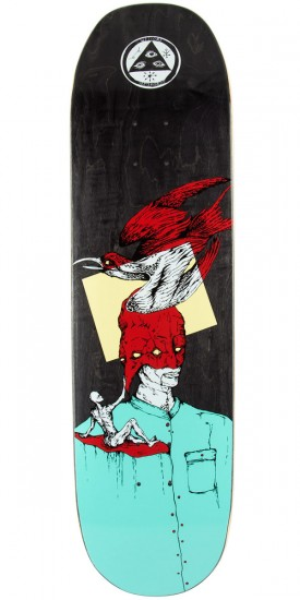 """Welcome Feel Nothing on Moontrimmer 2.0 Skateboard Deck - Teal/Red - 8.50"""""""