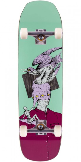 """Welcome Feel Nothing Skateboard Complete - Teal - 8.6"""""""