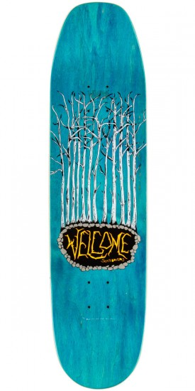 """Welcome Goathead on Moontrimmer Skateboard Complete - 8.5"""" - Teal Stain"""