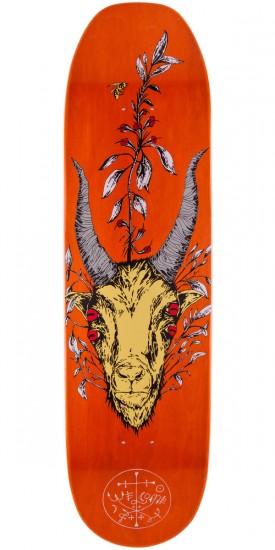 "Welcome Goathead On Moontrimmer Skateboard Deck - 8.5"" - Orange Stain"