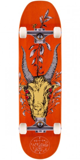 """Welcome Goathead On Moontrimmer Skateboard Complete - 8.5"""" - Orange Stain"""
