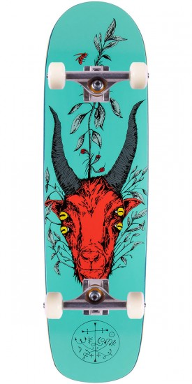 """Welcome Goathead Skateboard Complete - Teal - 8.5"""""""