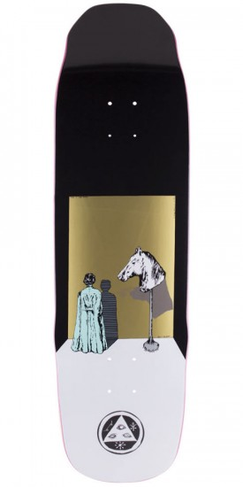 Welcome Haunted Horse on Sledgehammer Skateboard Deck - Black - 9.0""