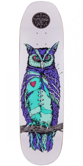 "Welcome Heartwise On Moontrimmer Skateboard Deck - 8.5"" - White"