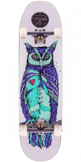 "Welcome Heartwise On Moontrimmer Skateboard Complete - 8.5"" - White"