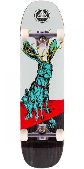 """Welcome Help Skateboard Complete - White/Teal - 8.25"""""""