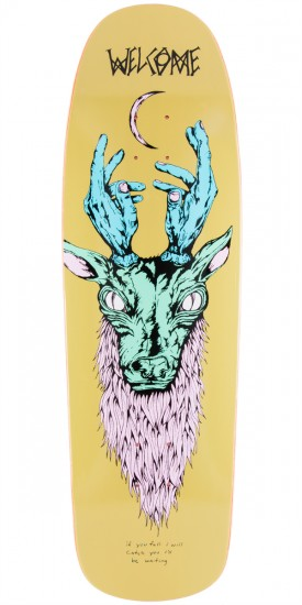 Welcome Lawrence Elk On Slappy Slap Skateboard Deck - Olive - 9.5""