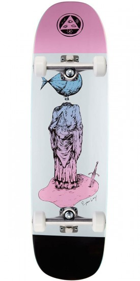 Welcome Light-Headed on Stonecipher Skateboard Complete - Black/Pink/White - 8.6