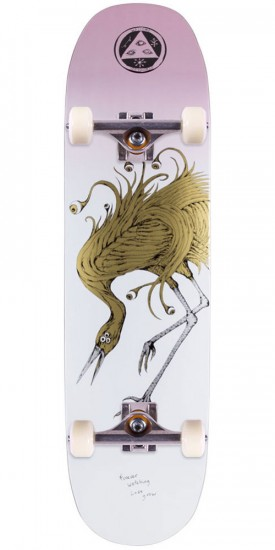 """Welcome Lovewatcher on Moontrimmer 2.0 Skateboard Complete - White/Pink - 8.5"""""""