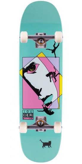Welcome Miller Faces on Catblood Skateboard Complete - Teal Dip - 8.50""