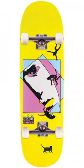 """Welcome Miller Faces on Catblood Skateboard Complete - Yellow Dip - 8.5"""""""
