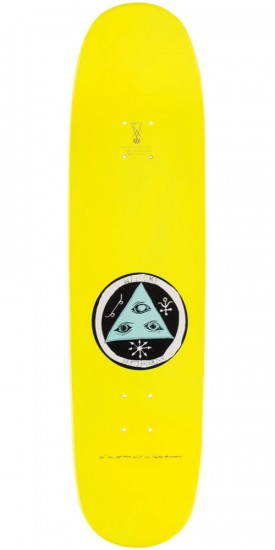 Welcome Miller Faces on Catblood Skateboard Deck - Yellow Dip - 8.5""