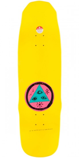 Welcome Nolan Johnson Rocking Dog On Necromancer Skateboard Deck - Yellow Dip - 9.125""
