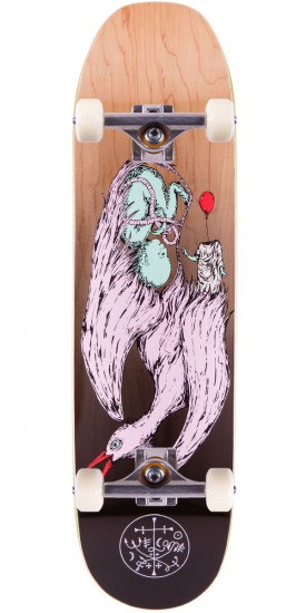 """Welcome Raw Power On Moontrimmer Skateboard Complete - Black / Natural Fade - 8.50"""""""
