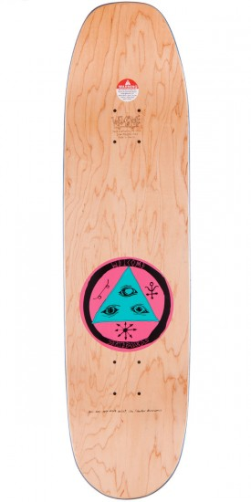 """Welcome Raw Power On Moontrimmer Skateboard Deck - Black / Natural Fade - 8.50"""""""