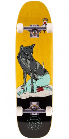 "Welcome Rhiannon On Nimbus 3000 Skateboard Complete - 8.5"" - Yellow Stain"