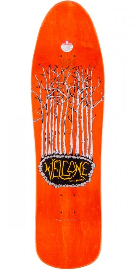 Welcome Saberskull On Mandrake Skateboard Deck - Yellow - 9.25""