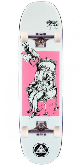 Welcome Self Portrait on Moontrimmer 2.0 Skateboard Complete - White/Pink - 8.50""