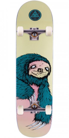 Welcome Sloth 2 on Big Bunyip Skateboard Complete - Cream - 8.5""