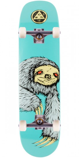 """Welcome Sloth 2 on Phoenix Skateboard Complete - Teal - 8.0"""""""