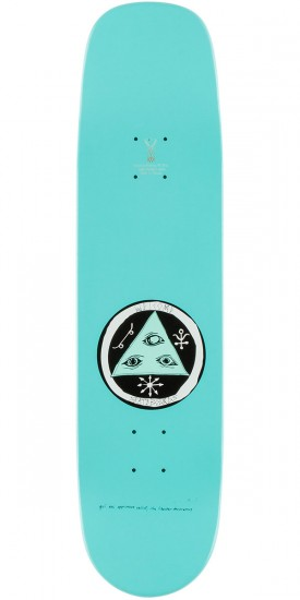 Welcome Sloth 2 on Phoenix Skateboard Deck - Teal - 8.0""