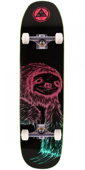Welcome Sloth 2 on Son of Moontrimmer Skateboard Complete - Black/Gradient - 8.25""