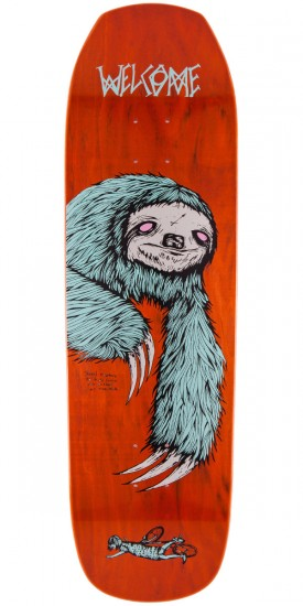 "Welcome Sloth On Banshee 90 Skateboard Deck - 9.0"" - Orange"