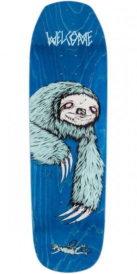 Welcome Sloth On Banshee 90 Skateboard Deck - Green Stain - 9.0""
