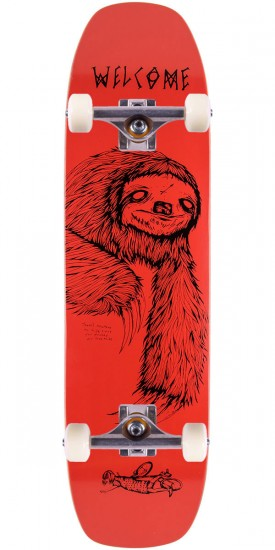 """Welcome Sloth Skateboard Complete - Coral - 8.4"""""""