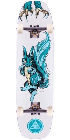 """Welcome Swoop and Snag On Wormtail Skateboard Complete - White - 8.40"""""""