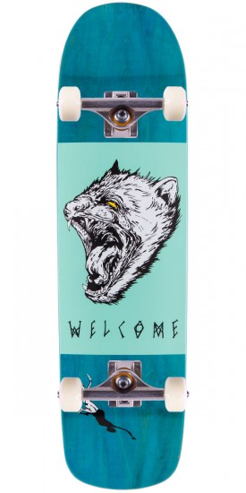 """Welcome Tasmanian Angel On Eclipse Skateboard Complete - Teal Stain - 8.25"""""""