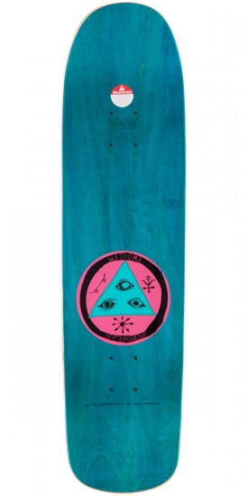 Welcome Tasmanian Angel On Eclipse Skateboard Deck - Teal Stain - 8.25""