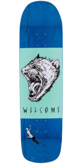 Welcome Tasmanian Angel On Eclipse Skateboard Deck - Blue Stain - 8.25""
