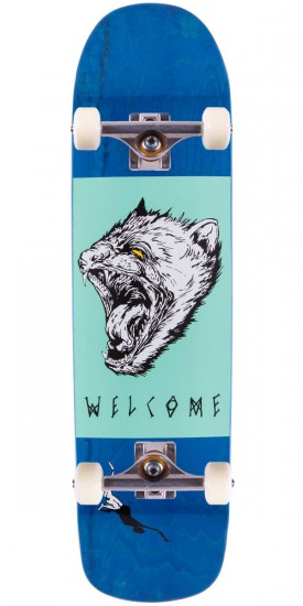 Welcome Tasmanian Angel On Eclipse Skateboard Complete - Blue Stain - 8.25""