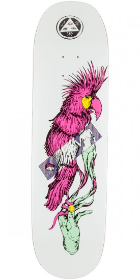 "Welcome Wildest Dreams on Moontrimmer 2.0 Skateboard Deck - 8.5"" - Purple Stain"