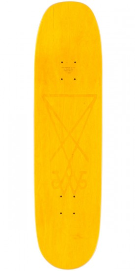 "Welcome Wildest Dreams on Moontrimmer 2.0 Skateboard Complete - 8.5"" - Yellow Stain"