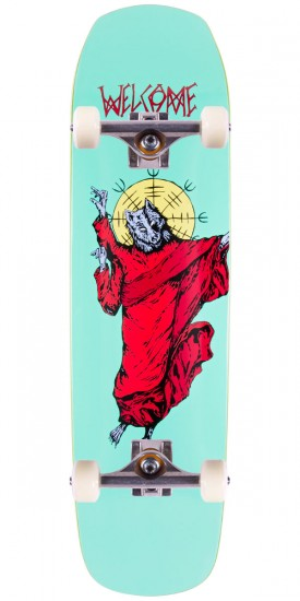 Welcome WolfGod On Helm Of Awe(Sum) Skateboard Complete - Teal - 8.4""