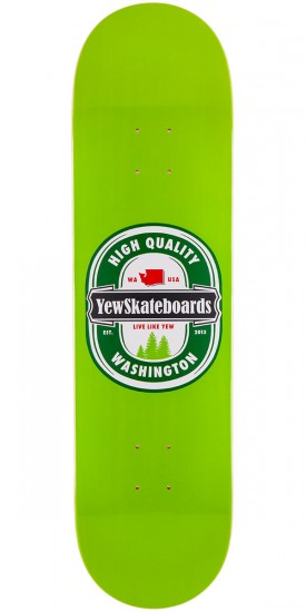 """Yew Cold Ones Skateboard Deck - Green - 8.5"""""""