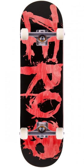 Zero Blood K/O Skateboard Complete - Red Stain - 8.125""