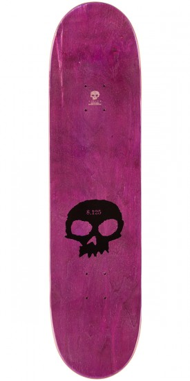 Zero Single Skull K/O Skateboard Deck - Black Stain - 8.125""