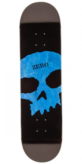 Zero Single Skull K/O Skateboard Deck - Blue Stain - 8.125""