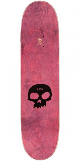 Zero Single Skull K/O Skateboard Complete - Blue Stain - 8.125""