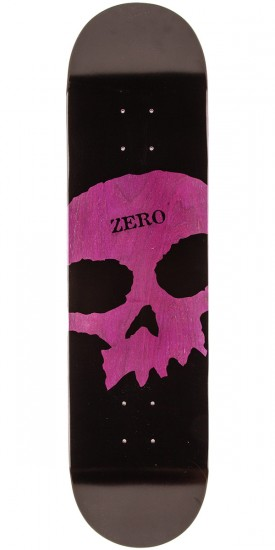 Zero Single Skull K/O Skateboard Deck - Purple Stain - 8.125""