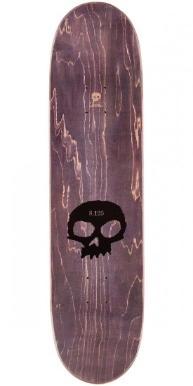 Zero Single Skull K/O Skateboard Deck - Tan Stain - 8.125""